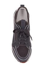 Ermenegildo Zegna - Nuova Medium Gray Leather & Mesh Trainer