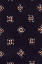 Brioni - Navy & Yellow Medallion Silk Necktie