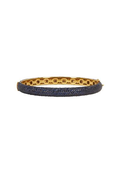 Loren Jewels - Gold & Silver Pavé Sapphire Bracelet