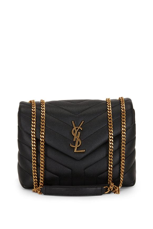 Saint Laurent Loulou Monogram Black Quilted Small Shoulder Bag