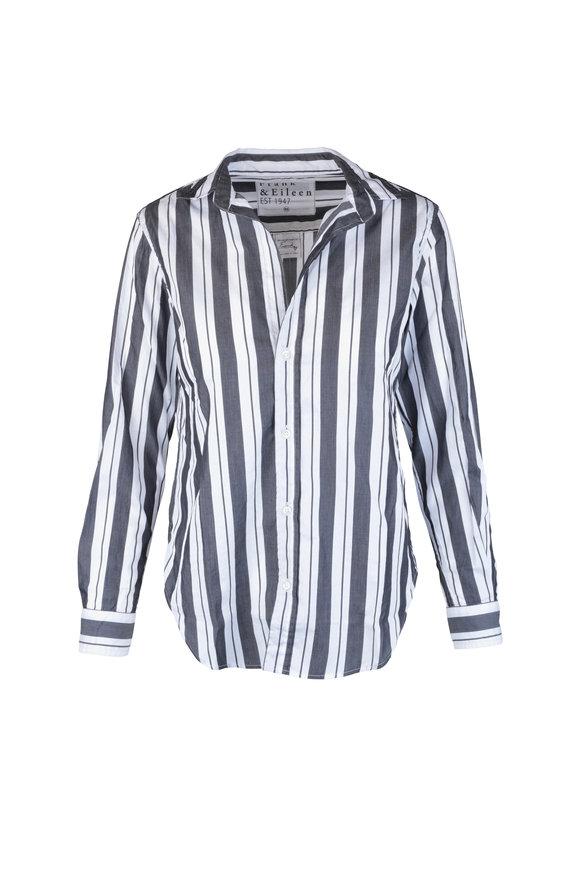 Frank & Eileen Frank Black & White Striped Button Down