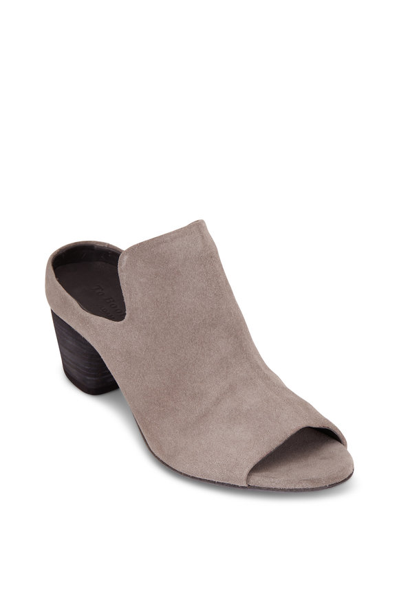 To Boot New York Women Olivia Piombo Gray Suede Open Toe Mule, 50mm
