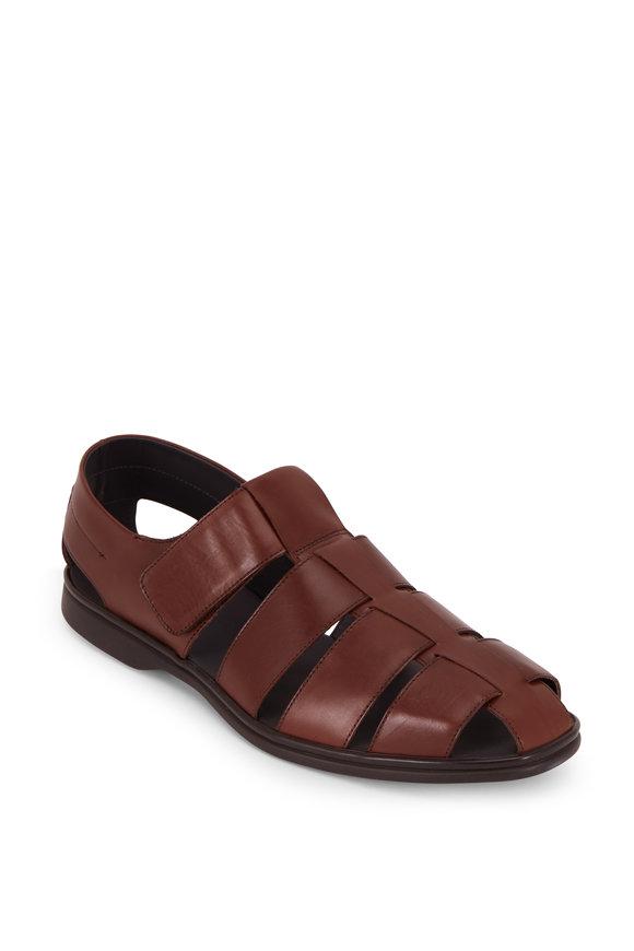 To Boot New York Santorini Marrone Leather Sandal