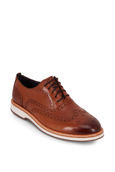 Cole Haan - Morris British Tan Leather Wingtip Oxford
