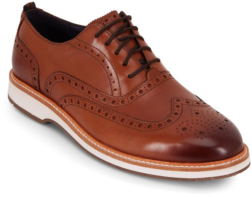 Cole Haan Morris British Tan Leather Wingtip Oxford