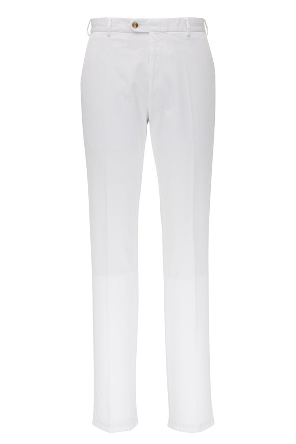 Peter Millar Crown White Twill Pant