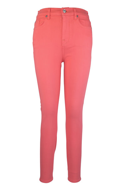 7 For All Mankind - Coral High Waist Ankle Skinny Jean