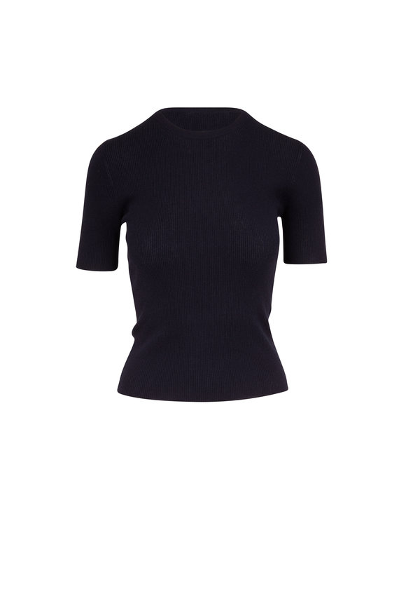 Michael Kors Collection Midnight Cashmere Fitted T-Shirt