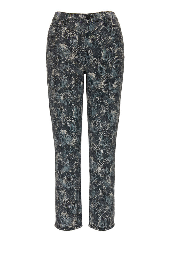 J Brand Ruby Cape Mountain Printed High-Rise Cropped Jean