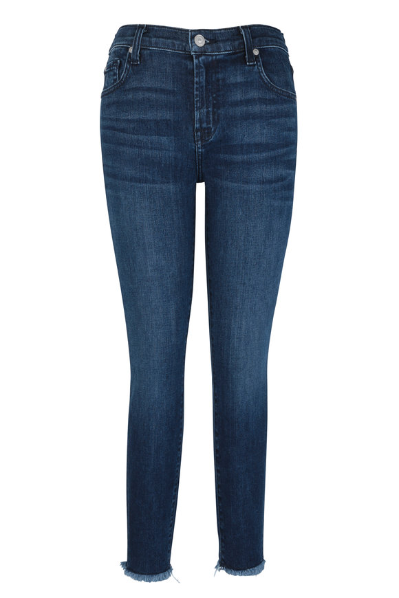 7 For All Mankind Luxe Vintage Dark Blue Skinny Ankle Jean