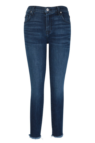 7 For All Mankind - Luxe Vintage Dark Blue Skinny Ankle Jean