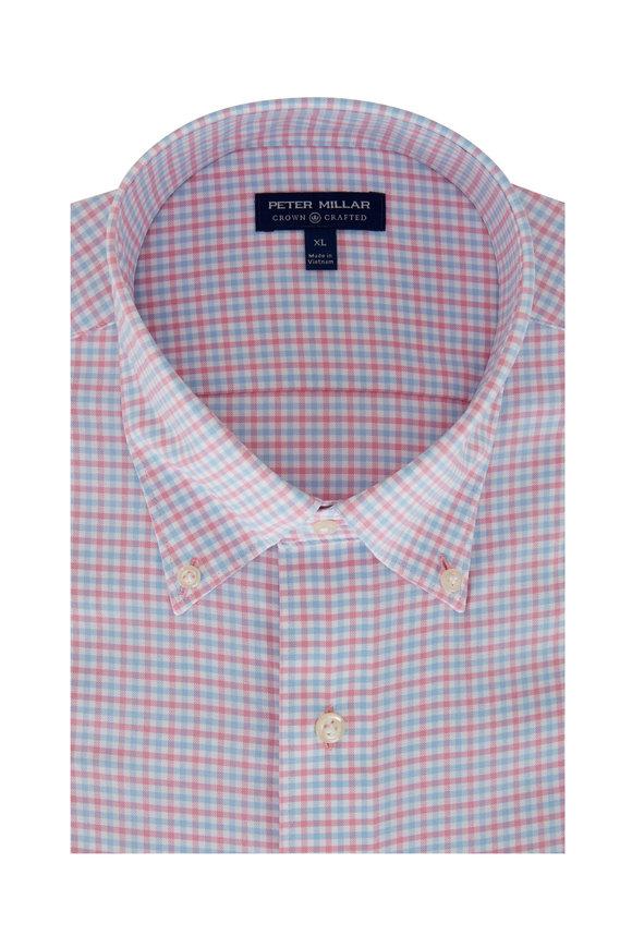 Peter Millar Armstrong Pink Check Sport Shirt