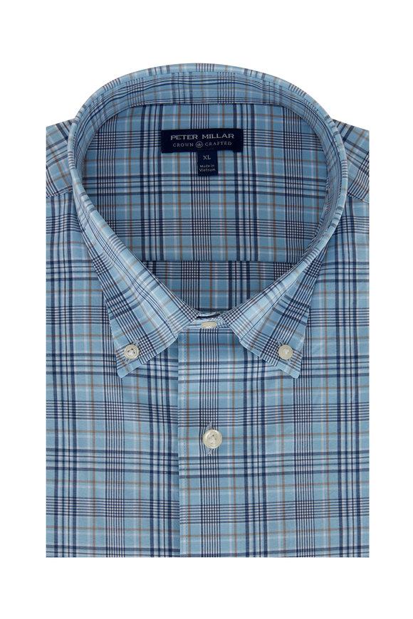 Peter Millar Jarrett Blue Plaid Sport Shirt