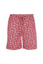 Peter Millar - Seaside Red Hot Air Balloon Print Swim Trunks