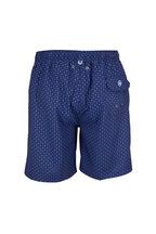 Peter Millar - Seaside Atlantic Blue Seashell Print Swim Trunks