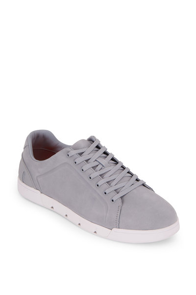 Swims - Breeze Tennis Quarry & White Suede Sneaker