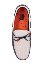 Swims - Navy Blue & Red & White Braided Lace Loafer