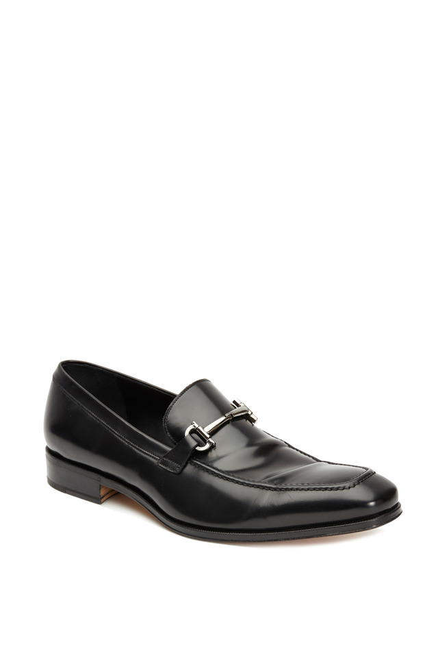 Fenice Black Leather Bit Loafer