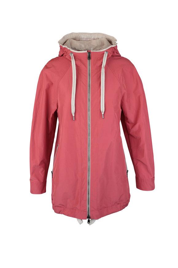 Brunello Cucinelli Rose Taffeta Hooded Jacket