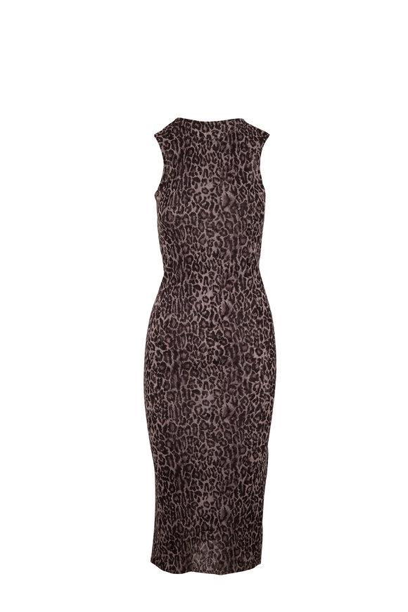 Peter Cohen Nickle Leopard Print Tank Dress