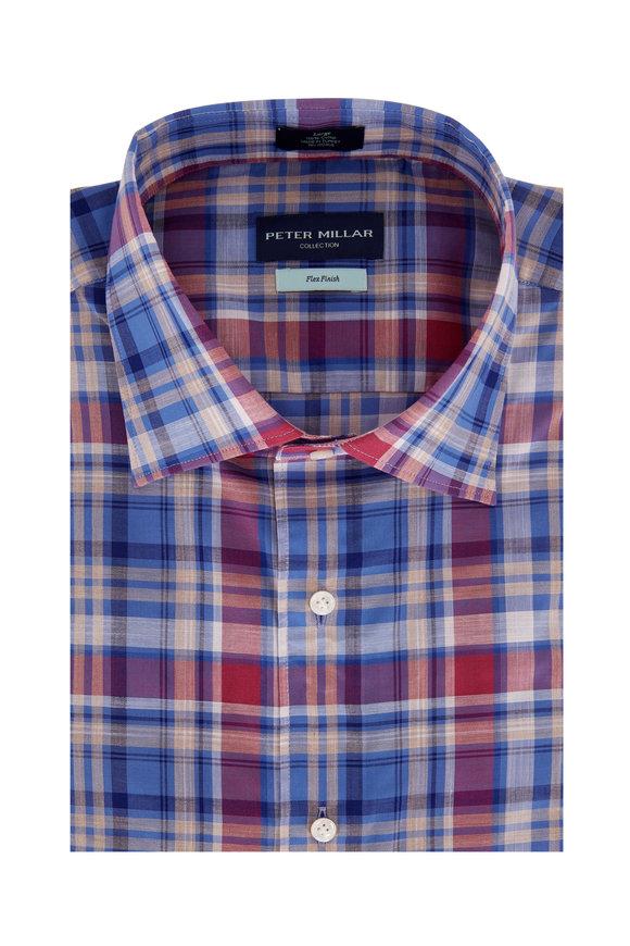 Peter Millar Solstice Blue Madras Sport Shirt