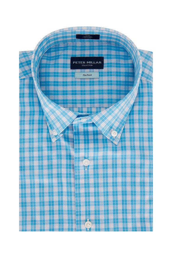 Peter Millar Tides Blue Plaid Sport Shirt