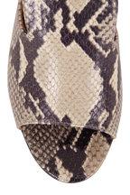 Paris Texas - Black & White Python Embossed Leather Mule, 80mm