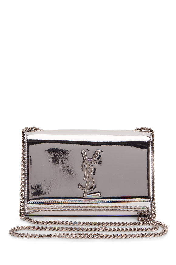 Saint Laurent Kate Silver Mirror Leather Convertible Chain Bag