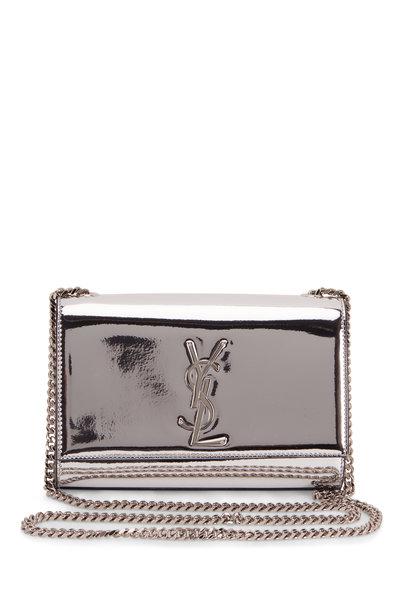 Saint Laurent - Kate Silver Mirror Leather Convertible Chain Bag