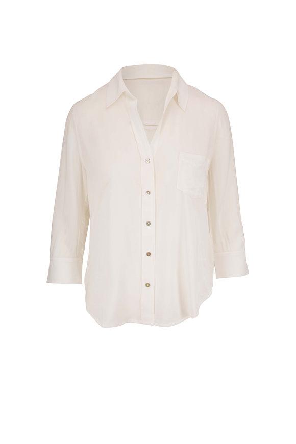 L'Agence Ryan White Three-Quarter Sleeve Blouse