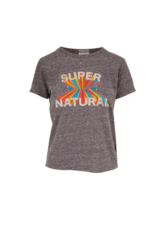 Mother Denim Little Goodie Goodie Gray Super Natural T-Shirt