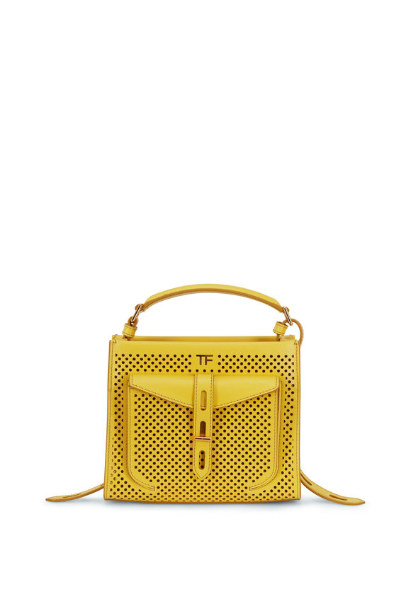 Tom Ford T-Twist Citron Perforated Leather Mini Bag