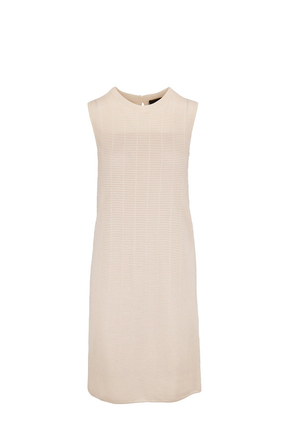 Akris Jasmine Sleeveless Grid Knit  Dress