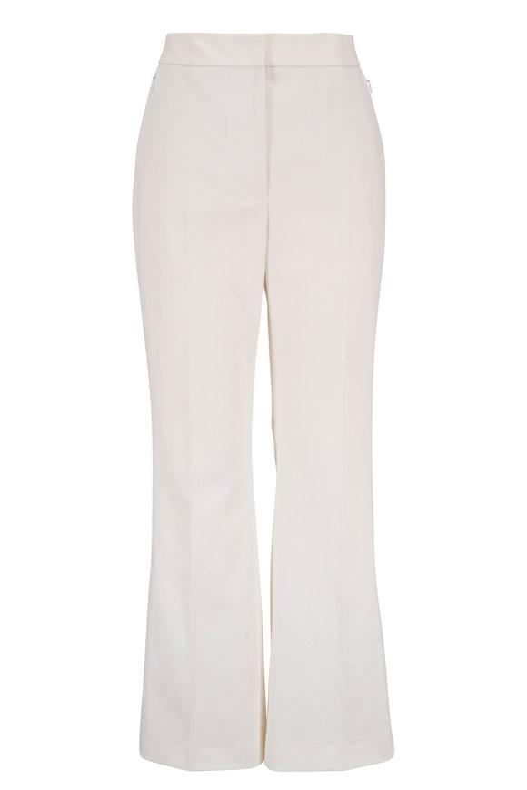 Akris Faria Jasmine Stretch Cotton Flare Pant