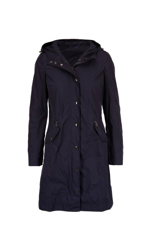 Bogner Fabiola Navy Hooded Coat