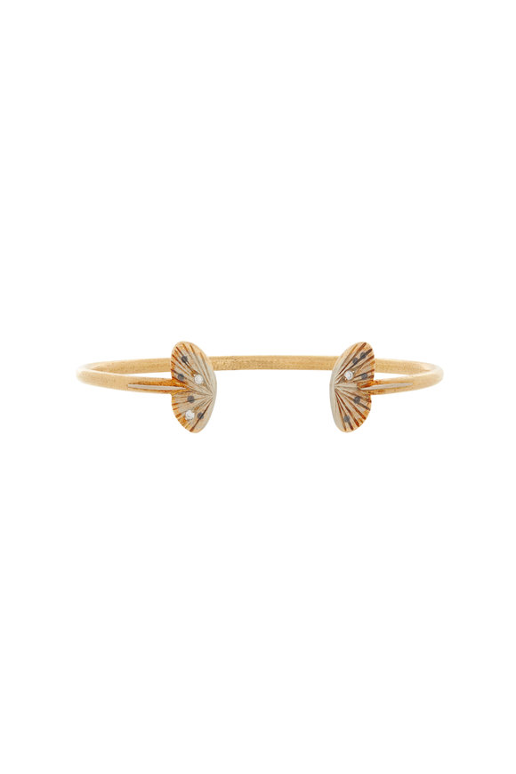 James Banks Baby Asterope Gold Split Wing Butterfly Cuff