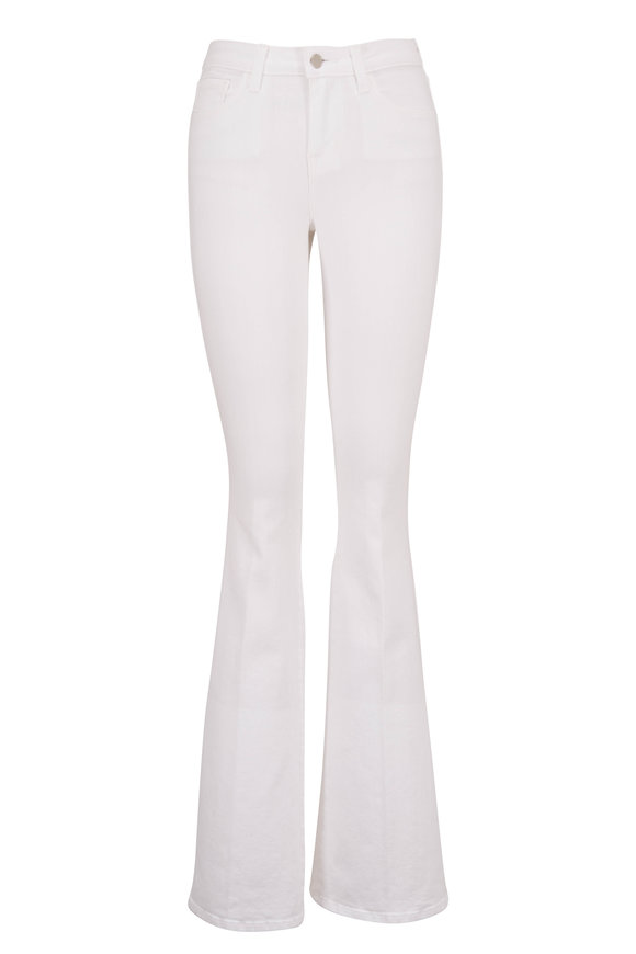 L'Agence Belle White High-Rise Flare Jean