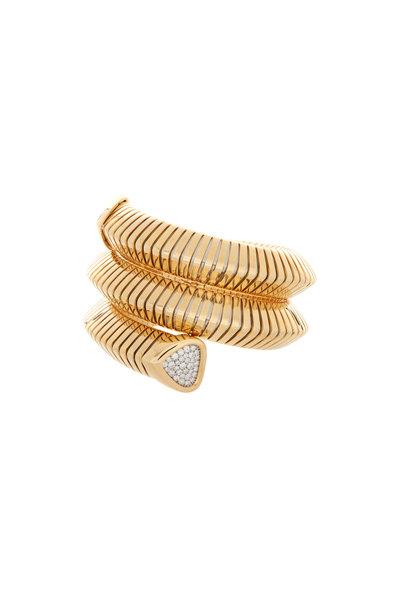 Marina B - Trisola Gold & Pavé Diamond Triple Cuff