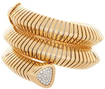 Marina B Trisola Gold & Pavé Diamond Triple Cuff
