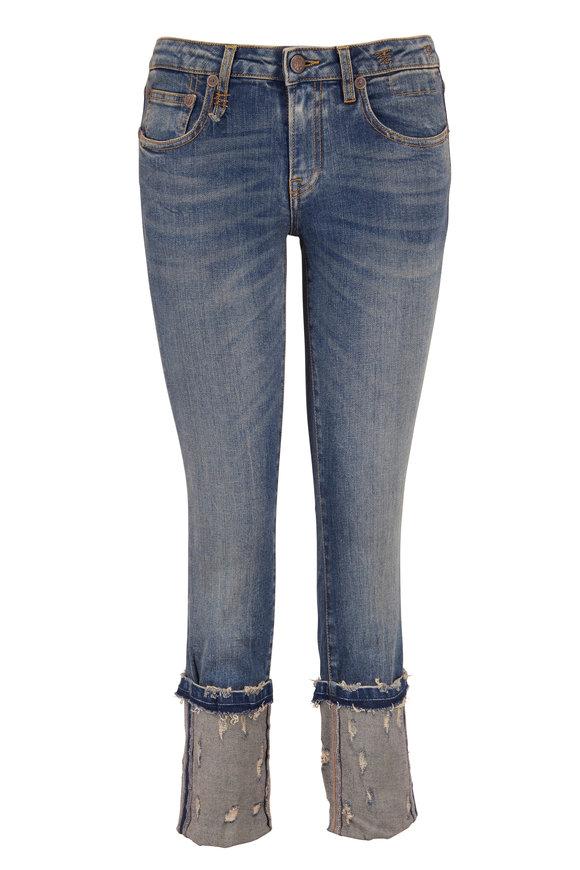 R13 Kate Kinsley Distressed Cuffed Skinny Jean