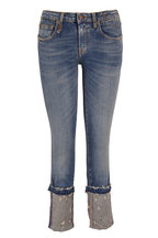 R13 - Kate Kinsley Distressed Cuffed Skinny Jean