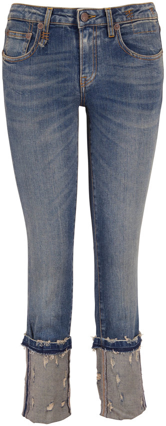 R13 Kate Kinsley Distressed Cuffed Skinny Jean