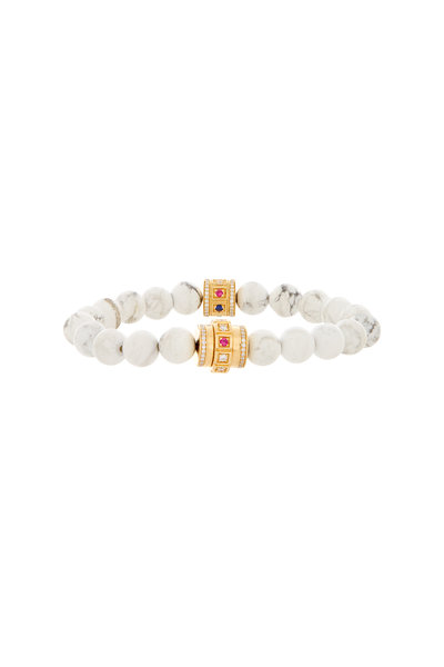 James Banks - White Howlite Beaded Bracelet