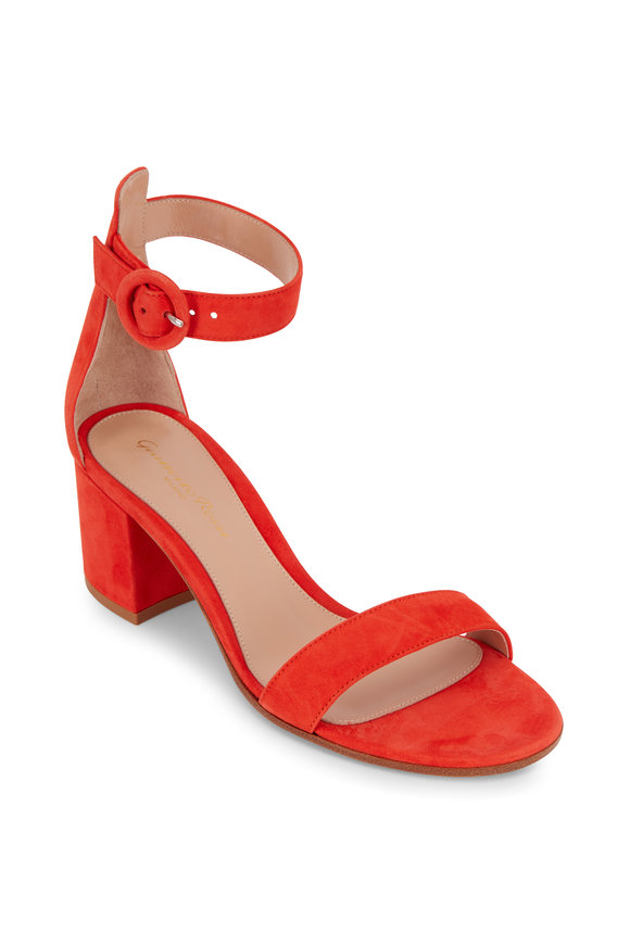 Gianvito Rossi Versilia California Orange Suede Sandal, 60mm