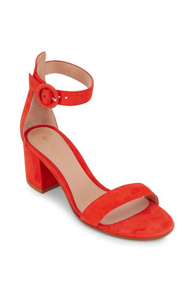 Gianvito Rossi - Versilia California Orange Suede Sandal, 60mm