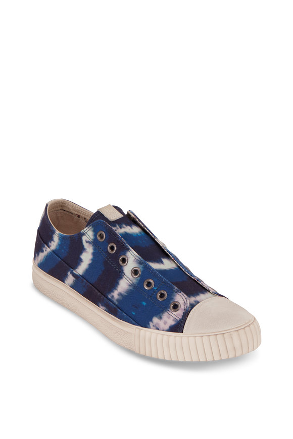 John Varvatos Vulcanized Tie-Dye Print Canvas Sneakers