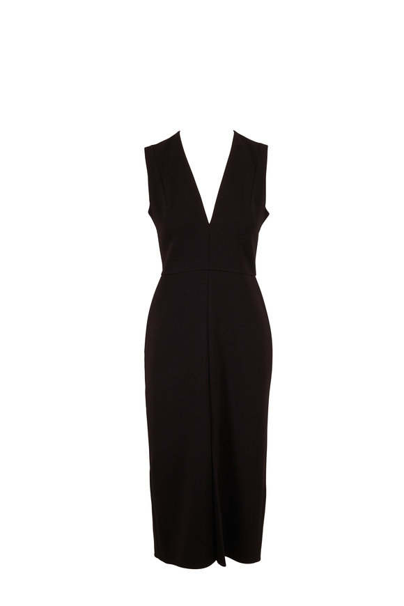 Victoria Beckham Black Tuxedo Fitted Dress