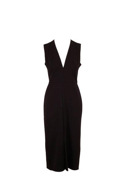 Victoria Beckham - Black Tuxedo Fitted Dress