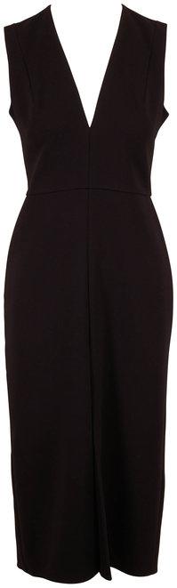 Victoria Beckham Black Tuxedo Fitted Dress