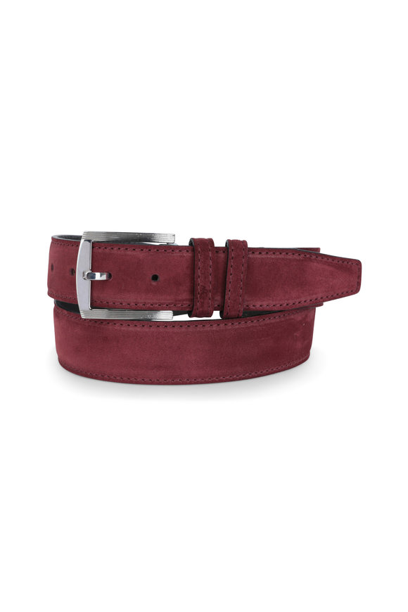 Kiton Bordeaux Suede Belt